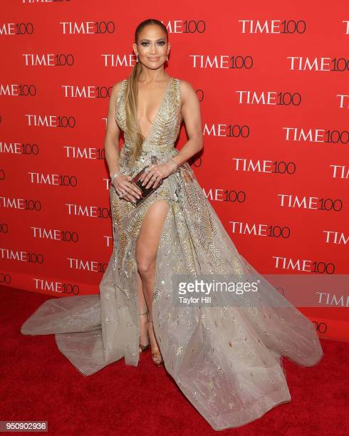 Jennifer Lopez attends the 2018 Time 100 Gala at Frederick P. Rose Hall, Jazz at Lincoln Center on April 24, 2018 in New York City.