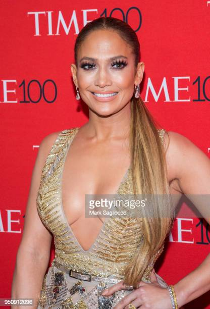 Jennifer Lopez attends the 2018 Time 100 Gala at Frederick P Rose Hall Jazz at Lincoln Center on April 24 2018 in New York City