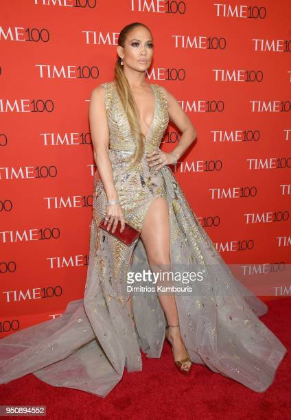 Jennifer Lopez attends the 2018 Time 100 Gala at Jazz at Lincoln Center on April 24 2018 in New York City