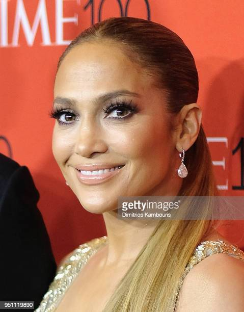 Jennifer Lopez attends the 2018 Time 100 Gala at Jazz at Lincoln Center on April 24, 2018 in New York City.