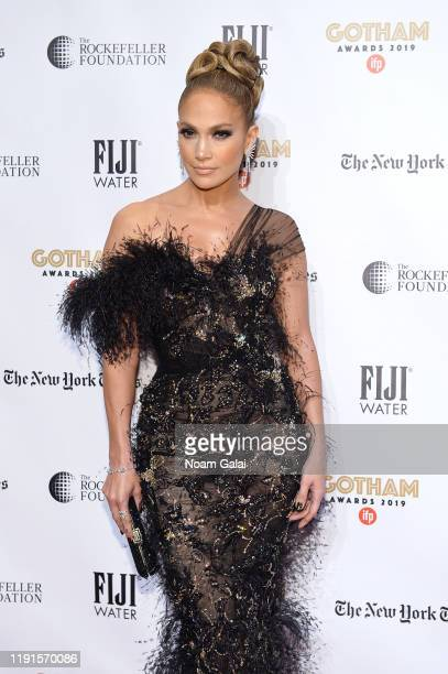 Jennifer Lopez attends the 2019 IFP Gotham Awards with FIJI Water at Cipriani Wall Street on December 02, 2019 in New York City.