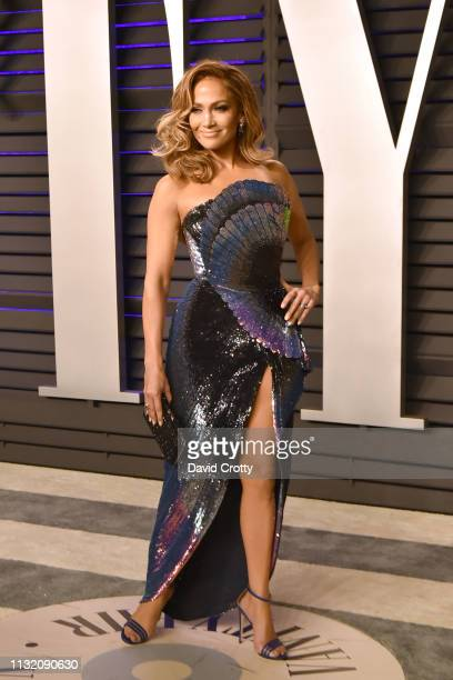 Jennifer Lopez attends the 2019 Vanity Fair Oscar Party at Wallis Annenberg Center for the Performing Arts on February 24 2019 in Beverly Hills...