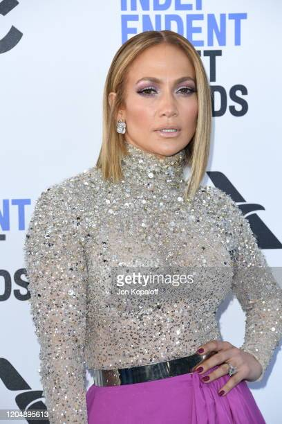 Jennifer Lopez attends the 2020 Film Independent Spirit Awards on February 08 2020 in Santa Monica California