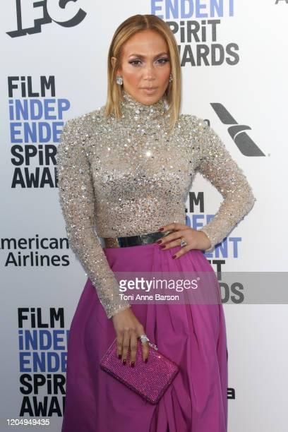 Jennifer Lopez attends the 2020 Film Independent Spirit Awards on February 08, 2020 in Santa Monica, California.