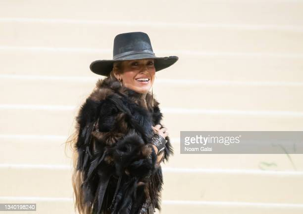 Jennifer Lopez attends the 2021 Met Gala celebrating 'In America: A Lexicon of Fashion' at The Metropolitan Museum of Art on September 13, 2021 in...