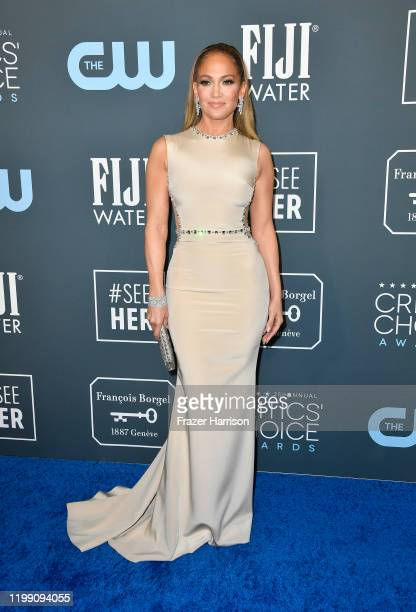 Jennifer Lopez attends the 25th Annual Critics' Choice Awards at Barker Hangar on January 12, 2020 in Santa Monica, California.
