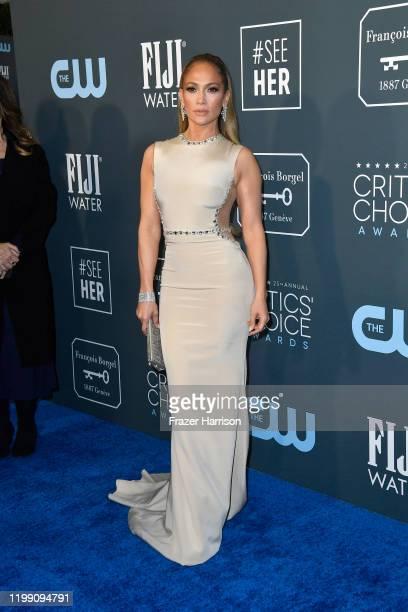 Jennifer Lopez attends the 25th Annual Critics' Choice Awards at Barker Hangar on January 12, 2020 in Santa Monica, California.
