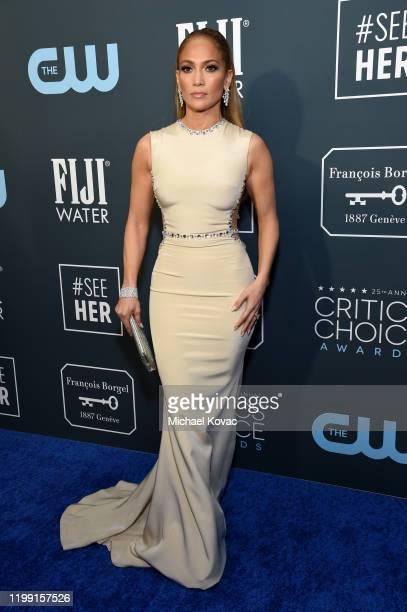 Jennifer Lopez attends the 25th annual Critics' Choice Awards>> at Barker Hangar on January 12, 2020 in Santa Monica, California.