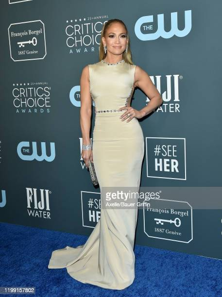Jennifer Lopez attends the 25th Annual Critics' Choice Awards at Barker Hangar on January 12 2020 in Santa Monica California