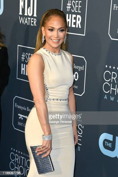 Jennifer Lopez attends the 25th Annual Critics' Choice Awards held at Barker Hangar on January 12 2020 in Santa Monica California