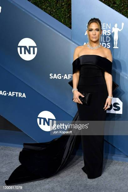 Jennifer Lopez attends the 26th Annual Screen Actors Guild Awards at The Shrine Auditorium on January 19 2020 in Los Angeles California