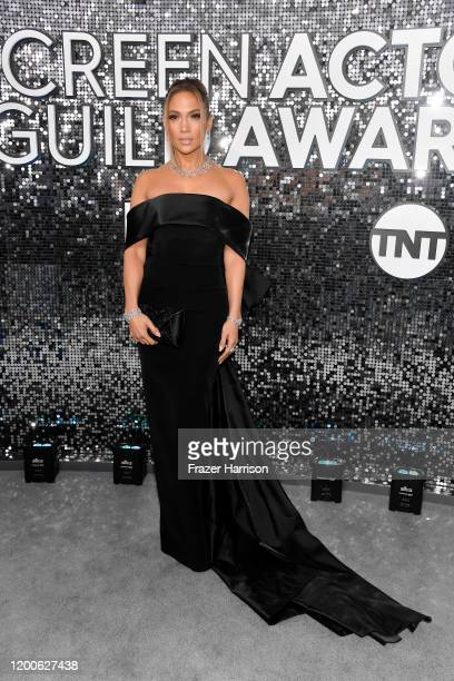 Jennifer Lopez attends the 26th Annual Screen ActorsGuild Awards at The Shrine Auditorium on January 19 2020 in Los Angeles California