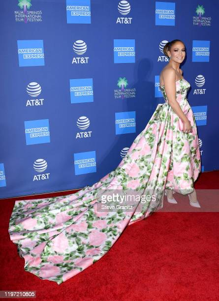 Jennifer Lopez attends the 31st Annual Palm Springs International Film Festival Film Awards Gala at Palm Springs Convention Center on January 02,...