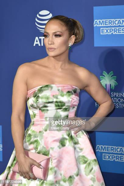 Jennifer Lopez attends the 31st Annual Palm Springs International Film Festival Gala at Palm Springs Convention Center on January 02, 2020 in Palm...