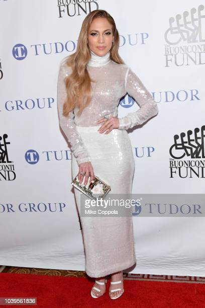 Jennifer Lopez attends the 33rd Annual Great Sports Legends Dinner, which raised millions of dollars for the Buoniconti Fund to Cure Paralysis at The...