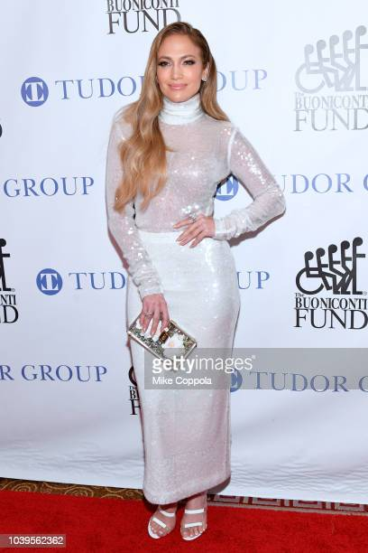 Jennifer Lopez attends the 33rd Annual Great Sports Legends Dinner which raised millions of dollars for the Buoniconti Fund to Cure Paralysis at The...