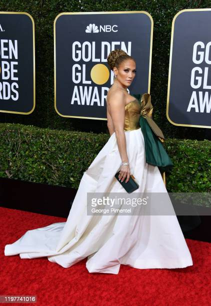 Jennifer Lopez attends the 77th Annual Golden Globe Awards at The Beverly Hilton Hotel on January 05, 2020 in Beverly Hills, California.