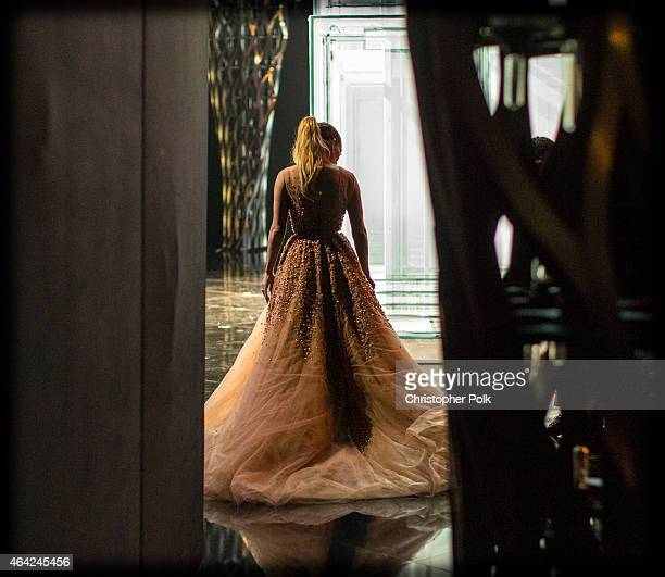 Jennifer Lopez attends the 87th Annual Academy Awards at Dolby Theatre on February 22 2015 in Hollywood California