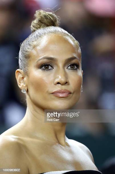 Jennifer Lopez attends the 89th MLB AllStar Game presented by Mastercard at Nationals Park on July 17 2018 in Washington DC