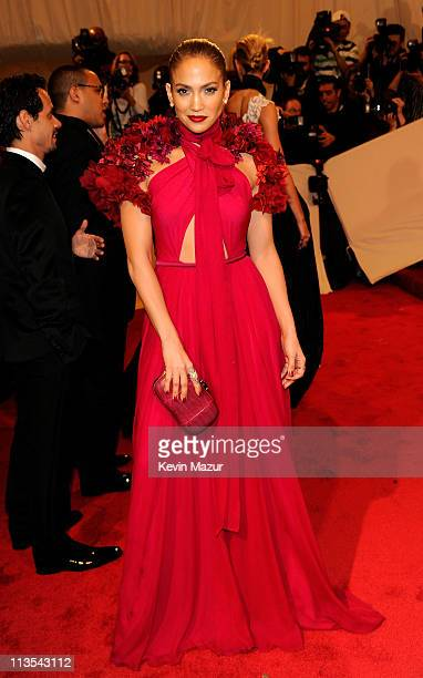 Jennifer Lopez attends the Alexander McQueen Savage Beauty Costume Institute Gala at The Metropolitan Museum of Art on May 2 2011 in New York City