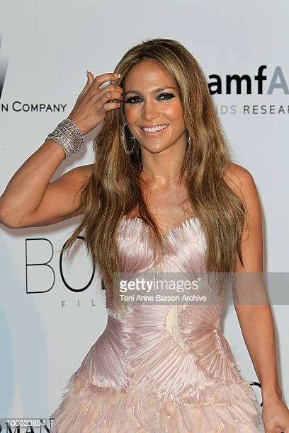 Jennifer Lopez attends the amfAR Cinema Against AIDS 2010 at the Hotel du Cap during the 63rd Annual Cannes Film Festival on May 20, 2010 in Antibes,...