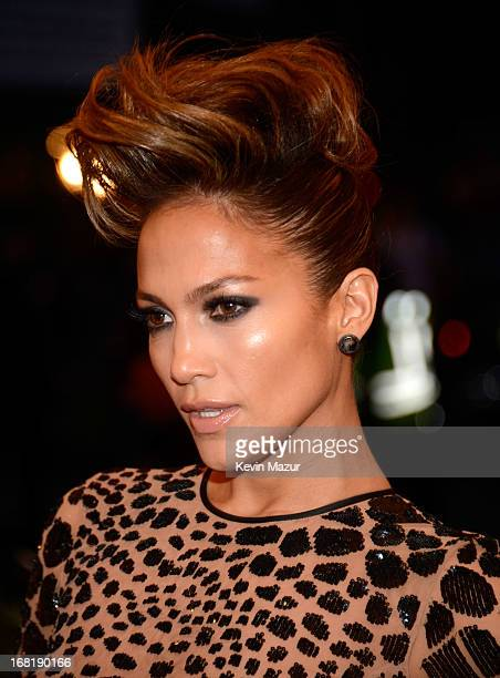 Jennifer Lopez attends the Costume Institute Gala for the PUNK Chaos to Couture exhibition at the Metropolitan Museum of Art on May 6 2013 in New...