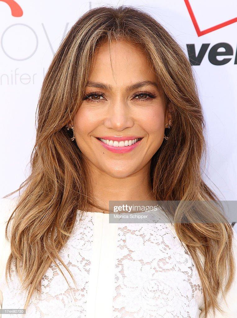Jennifer Lopez attends the flagship store celebration at Viva Movil on July 26, 2013 in New York City.