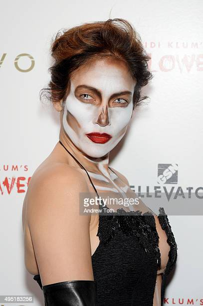 Jennifer Lopez attends the Heidi Klum Halloween Party on October 31 2015 in New York City
