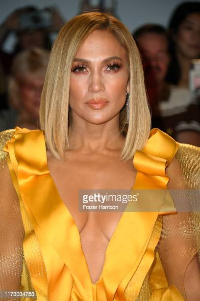 "Jennifer Lopez attends the ""Hustlers"" premiere during the 2019 Toronto International Film Festival at Roy Thomson Hall on September 07, 2019 in..."