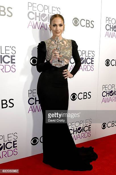 Jennifer Lopez attends the People's Choice Awards 2017 Press Room at Microsoft Theater on January 18 2017 in Los Angeles California
