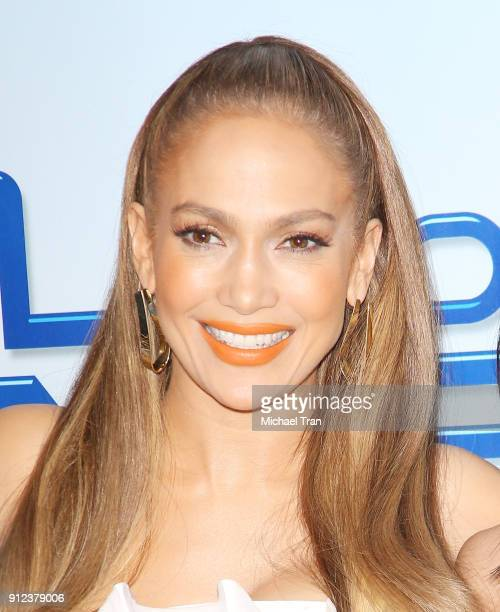 Jennifer Lopez attends the photo op for NBC's World Of Dance held at NBC Universal Lot on January 30 2018 in Universal City California