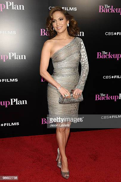 """Jennifer Lopez attends the premiere of """"The Back-Up Plan"""" at Regency Village Theatre on April 21, 2010 in Westwood, California."""