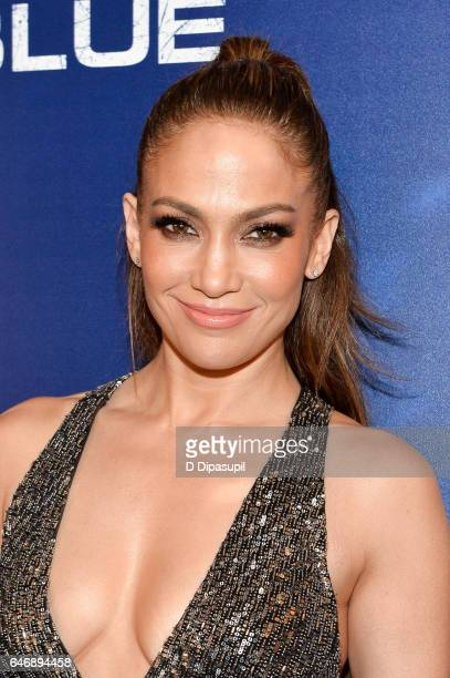 Jennifer Lopez attends the season two premiere of 'Shades of Blue' hosted by NBC and The Cinema Society at The Roxy on March 1 2017 in New York City