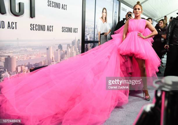Jennifer Lopez attends the 'Second Act' World Premiere at Regal Union Square Theatre Stadium 14 on December 12 2018 in New York City