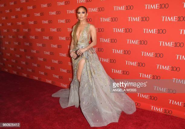 TOPSHOT Jennifer Lopez attends the TIME 100 Gala celebrating its annual list of the 100 Most Influential People In The World at Frederick P Rose Hall...