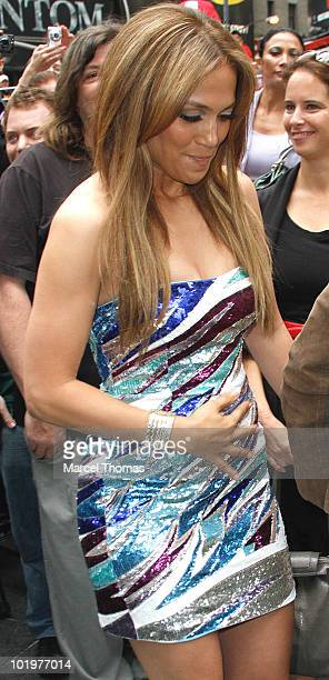 Jennifer Lopez attends the unveiling of the 'Be Extraordinary ' billboard for Boys and Girls Clubs in Times Square on June 10 2010 in New York New...