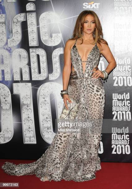 Jennifer Lopez attends the World Music Awards 2010 at the Sporting Club on May 18 2010 in Monte Carlo Monaco