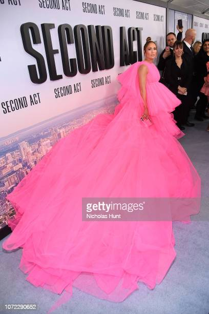 """Jennifer Lopez attends the world premiere of """"Second Act"""" at Regal Union Square Theatre, Stadium 14 on December 12, 2018 in New York City."""
