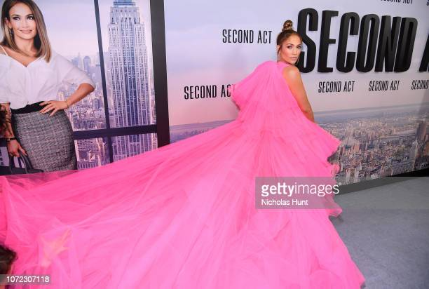 Jennifer Lopez attends the world premiere of Second Act at Regal Union Square Theatre Stadium 14 on December 12 2018 in New York City