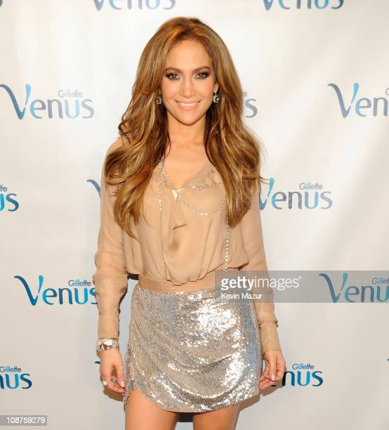 Jennifer Lopez backstage at the Gillette Venus announcement of Jennifer Lopez as firstever Global Ambassador to help reveal the goddess in every...