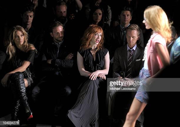 Jennifer Lopez Bradley Cooper Christina Hendricks and Neil Patrick Harris attend the Tommy Hilfiger Spring 2011 fashion show during MercedesBenz...