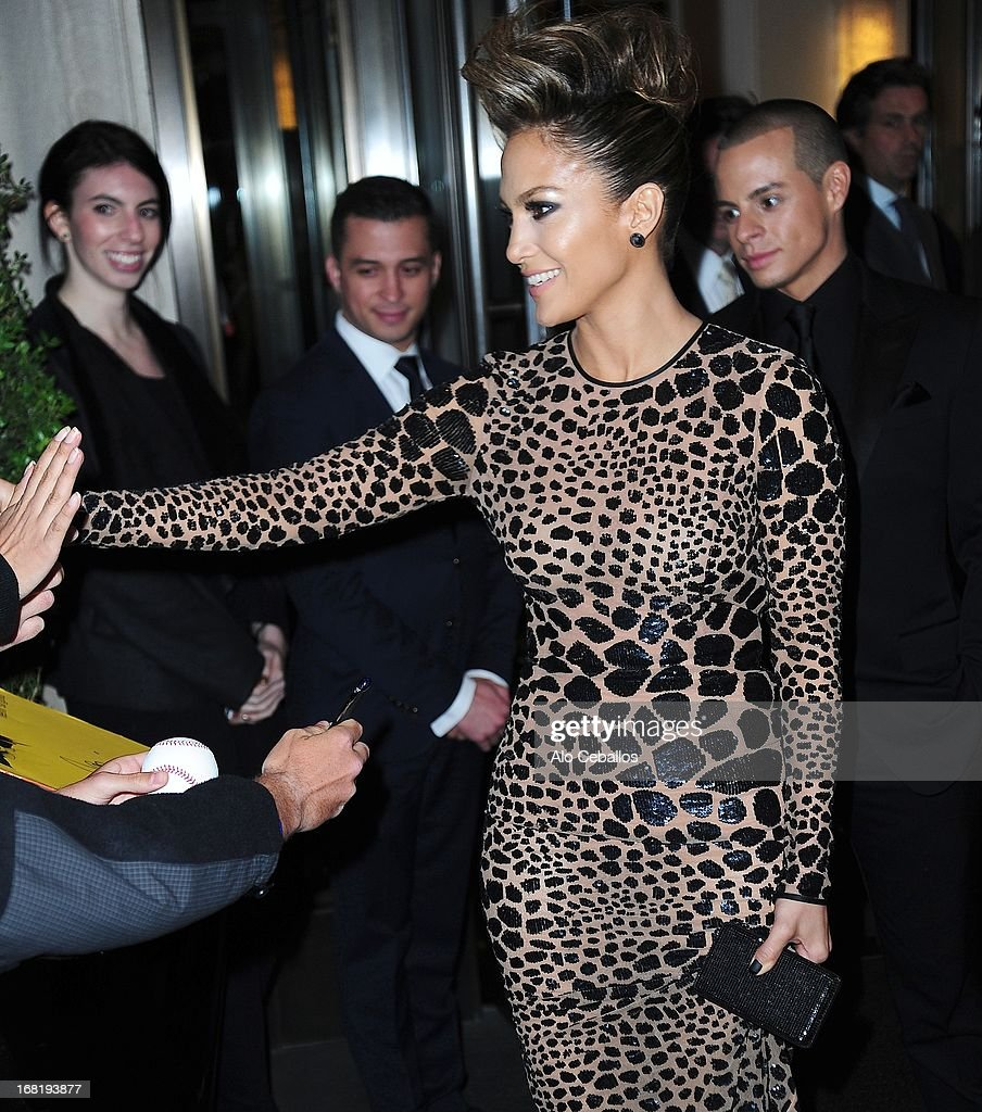 Jennifer Lopez, Casper Smart and Michael Kors are seen on May 6, 2013 in New York City.