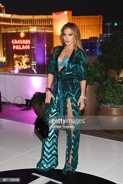 Jennifer Lopez celebrates her birthday at Nobu Villa Atop Nobu Hotel at Caesars Palace on July 24 2016 in Las Vegas Nevada