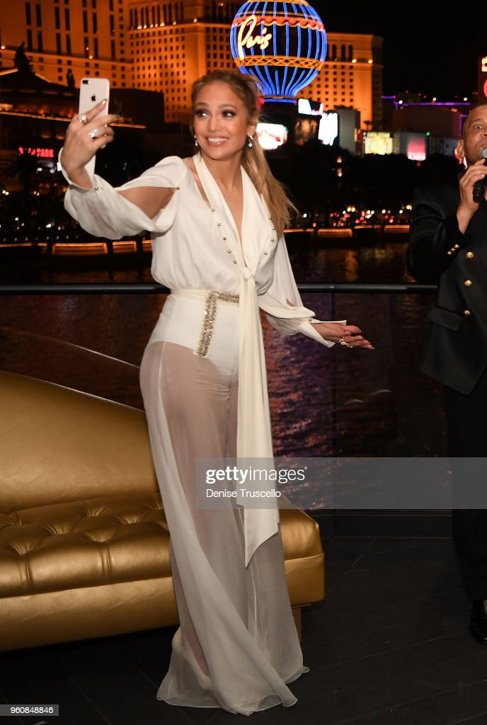 "Jennifer Lopez Celebrates Release Of New Single ""Dinero"" With Wolfgang Puck During Sneak Peak Of The New Spago At Bellagio"