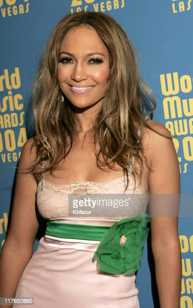 Jennifer Lopez during 2004 World Music Awards - Red Carpet at The Thomas and Mack Center in Las Vegas, Nevada, United States.