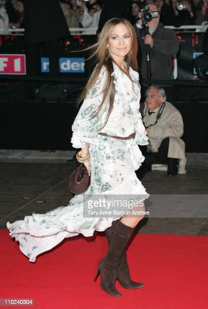 Jennifer Lopez during 2005 NRJ Music Awards Arrivals at Palais des festivals in Cannes France