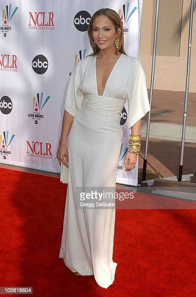 Jennifer Lopez during 2006 NCLR ALMA Awards Arrivals at Shrine Auditorium in Los Angeles California United States