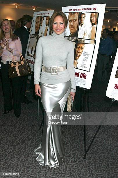 """Jennifer Lopez during """"An Unfinished Life"""" New York City Premiere at Directors Guild of America Theater in New York City, New York, United States."""