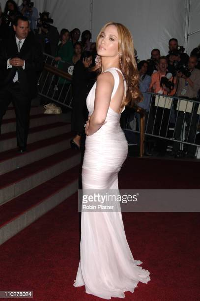 Jennifer Lopez during 'AngloMania' Costume Institute Gala at The Metropolitan Museum of Art Arrivals Celebrating 'AngloMania Tradition and...