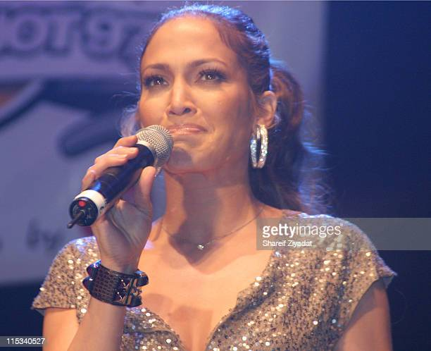 Jennifer Lopez during Full Frontal Hip Hop Presented by Hot 97 at Hammerstien Ballroom in New York City New York United States